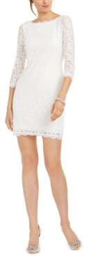 Adrianna Papell V-Back Lace Sheath Dress