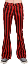 Run & Fly Mens 60's 70's Retro Vintage Black Striped Stretch Bellbottom Super Flares 32R
