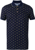 fe-fe car print polo shirt