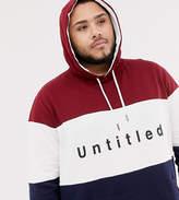 Burton Menswear Big & Tall hoodie in colour block red