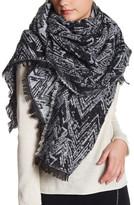 Natasha Accessories Chevron Boucle Knit Blanket Scarf