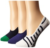 Sperry Canoe Liner Patterns 3-Pack Women's No Show Socks Shoes