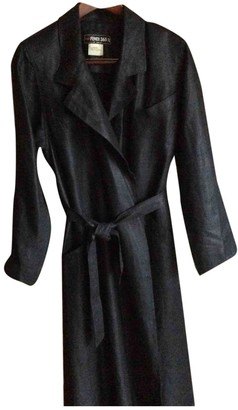 Fendi Black Linen Trench coats