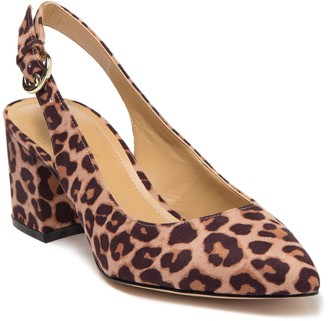 Nine West Thia Leopard Print Slingback Pump