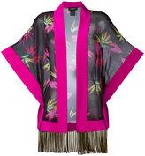 Etro printed poncho - women - Silk/Acetate - One Size