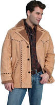 Scully Men's Lined Boar Suede Coat w/ Leather Lace Trim 64 - Whiskey Western Clothing