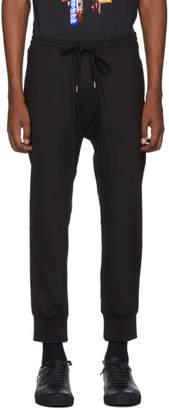 Neil Barrett Black Gabardine Travel Cuff Lounge Pants