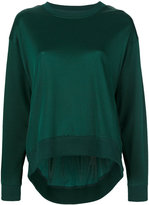MM6 MAISON MARGIELA high low sweatshirt