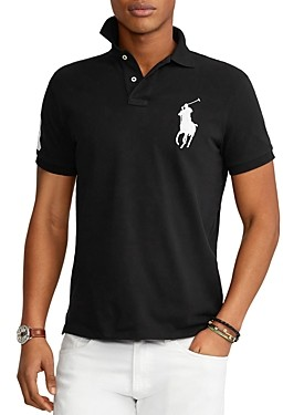 Polo Ralph Lauren Big Pony Custom Slim Fit Mesh Polo Shirt