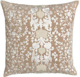 """Callisto Home Avalon Square Pillow with Natural Ground, 22""""Sq."""