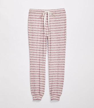 LOFT Striped Pajama Leggings