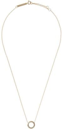 Zoë Chicco 14kt Yellow Gold Diamond Circle Pendant Necklace
