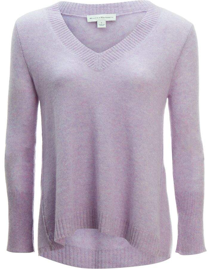 White + Warren Swing V-Neck Sweater - Women's
