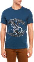 Just Cavalli Snake Graphic T-Shirt
