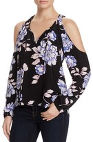 Yumi Kim Morning Glory Floral Print Cold Shoulder Top - 100% Bloomingdale's Exclusive