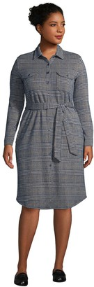 Lands' End Plus Size Shirtdress