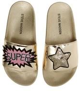 Steve Madden Girl's Jgrltalk Applique Slide Sandal