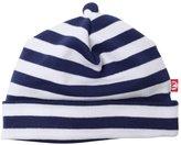 """Zutano Primary"""" Striped Hat (Baby) - Navy/White-NB"""