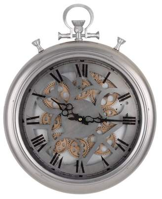 A&B Home Medium Hereford Pocketed Wall Clock Silver