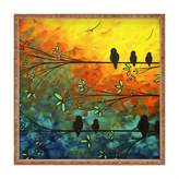 Deny Designs Madart Birds a Feather Square Tray