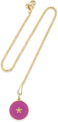Andrea Fohrman 18k New Full Moon Necklace, Amethyst