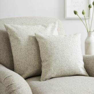 The White Company Scatter Cushion Wool, Light Grey Wool, Medium Square