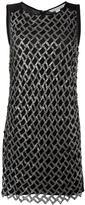 Diane von Furstenberg metallic detailing A-line dress