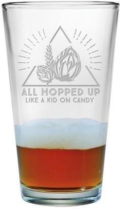 Susquehanna Glass Hopped Up Like A Kid On Candy Pint Glass (Set of 4) 16 oz