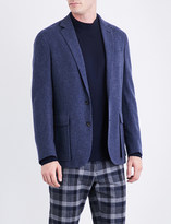 Ralph Lauren Purple Label Herringbone-pattern regular-fit cashmere jacket