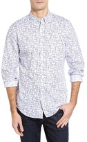 Vineyard Vines Men's Linear Boat - Tucker Slim Fit Print Sport Shirt