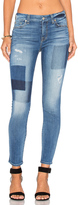 7 For All Mankind Patch Ankle Skinny