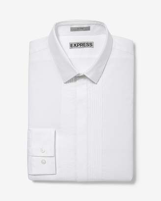 Express Slim Fit Pleated Tuxedo Dress Shirt