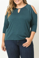 Gilli Green Cut Out Blouse