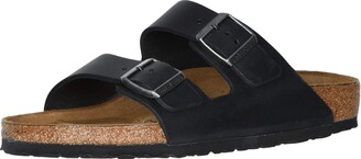 Birkenstock Arizona - Oiled Leather (Unisex) Black Oiled Leather 39 (US Men's 6-6.5 US Women's 8-8.5) Narrow