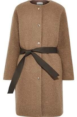 MACKINTOSH Belted Wool-blend Boucle Coat