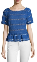 Tracy Reese Lace Flounced Tee