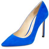 Jimmy Choo Romy 100 Suede Pointed-Toe Pump