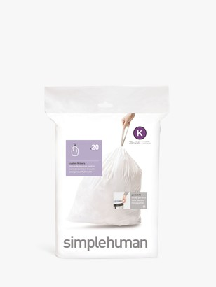 Simplehuman Bin Liners, Size K, Pack of 20