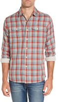 Grayers Men's Sherman Modern Fit Double Cloth Windowpane Sport Shirt