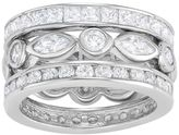 Journee Collection Sterling Silver Cubic Zirconia Eternity Wedding Ring Set