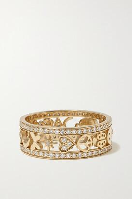 Sydney Evan Icon 14-karat Gold Diamond Ring - 6 1/2