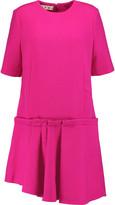 Marni Asymmetric wool-blend mini dress