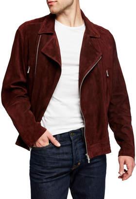 Brunello Cucinelli Men's Suede Biker Jacket