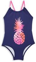 Hatley Little Girl's & Girl's Pineapple One-Piece Swimsuit