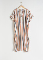 And other stories Linen Blend Striped Kaftan