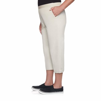 Alfred Dunner Women's Petite Twill Classic FIT Capri
