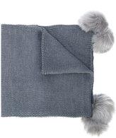 Twin-Set faux fur pom pom scarf
