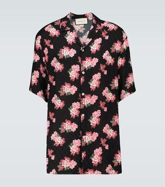 Gucci Floral GG printed silk shirt