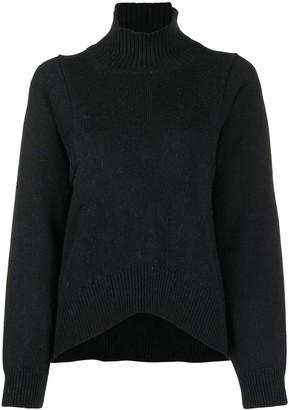 Erika Cavallini High-Neck Virgin Wool Blend Jumper
