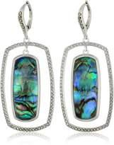 Judith Jack Sterling Silver/Swarovski Marcasite Square Orbital Drop Earrings
